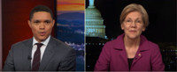 VIDEO: Elizabeth Warren Reacts to Being Silenced on Senate Floor on THE DAILY SHOW