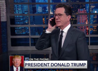 VIDEO: Stephen Colbert Calls Into Question Trump's Late Night Calls