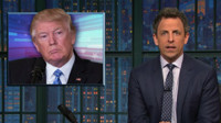 VIDEO: Seth Meyers Takes 'Closer Look' at Town Hall Protests & Trump's Golfing
