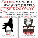 MOVE IT, AND IT'S YOURS! and GUMBO Headline 2017 Gretna Mainstreet New Music Theatre Festival