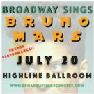 Corey Cott, Lena Hall & More Set for BROADWAY SINGS BRUNO MARS Encore Performance