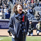 Photo Flash: BRIGHT STAR's Carmen Cusack Sings the National Anthem for Yankees' Opening Day