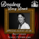 BROADWAY 'BOOZY' BRUNCH to Welcome Billy Lykken This Sunday at Don't Tell Mama