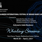 16th Kalanidhi International Festival of Indian Dance Presents WHIRLING STREAMS, 3/28-4/2