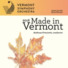 Vermont Symphony Launches 'Made in Vermont' Statewide Tour, Today