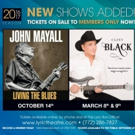 John Mayall and Clint Black Join The Lyric's 2016-17 Season