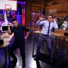 VIDEO: Jimmy Fallon & Taylor Lautner Celebrate March Madness with Random Object Shootout