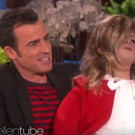 VIDEO: Ellen Gives Justin Theroux Life-Size Jennifer Aniston Doll!