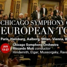 Chicago Symphony Orchestra To Embark On Sixth European Tour, 1/13-27