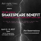 The Art of Acting Studio to Host 3rd Annual Shakespeare Benefit for BC/EFA