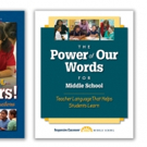 Responsive Classroom Releases THE POWER OF OUR WORDS FOR MIDDLE SCHOOL
