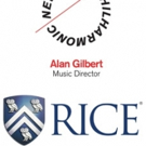 Rice University Students Set for New York Philharmonic's 2016 Global Academy Fellowship Program