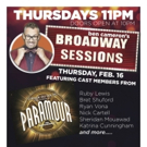 Broadway Sessions Welcomes PARAMOUR Stars and More this Thursday