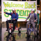 VIDEO: Michael Strahan Talks GMA Gig, Races Jimmy on Giant Tricycles on TONIGHT