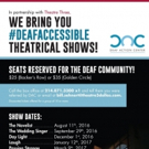 Theatre Three Announces Partnership with Deaf Action Center