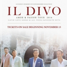 Il Divo to Bring AMOR & PASION TOUR to North America; Dates Announced