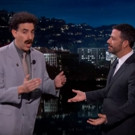 VIDEO: 'Borat' Stops by JIMMY KIMMEL to Premiere New Trailer for THE BROTHERS GRIMSBY