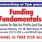 TRU and The Playroom Theatre to Host Nov 2015 TRU Panel on 'Funding Fundamentals'