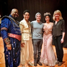 Photo Flash: Jeremy Jordan & Ashley Spencer Visit ALADDIN on Broadway