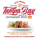 Creative Loafing to Kick Off 10th Annual Tampa Bay Restaurant Week Next Month