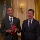 VIDEO: President Obama Opens LATE SHOW's Super Bowl Special!