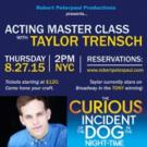 CURIOUS INCIDENT's Taylor Trensch Leads Master Class in NYC Today