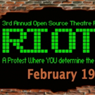 The Highwood Theatre to Stage New Play RIOT