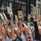 HARRY POTTER Fans Form 'Muggle Mob' Outside Scholastic Headquarters