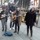Sara Bareilles Hits Times Square with the WAITRESS Band in Tow