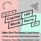 The Jewels Among Headliners for 2017 Capitol Hill Block Party