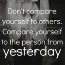 Fitness Tip of the Day: Compare Yourself