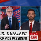VIDEO: Jimmy Kimmel Announces Run for Vice President - CNN Reacts