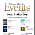 Barnes & Noble Authors Day Hosts Four Boulevard Books Writers, 11/12