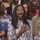 STAGE TUBE: Renee Elise Goldsberry Welcomes Hillary Clinton to Harlem With The National Anthem
