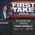 ESPN2 to Air FIRST TAKE Veteran's Day and Election Day Specials Next Week