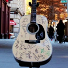#4Chords4Cancer Guitar, Signed by SCHOOL OF ROCK Cast, Laura Benanti & More, Up for Auction