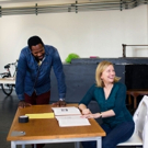 Photo Flash: In Rehearsal with Mary Beth Fisher and James Vincent Meredith for ROZ AND RAY at Victory Gardens