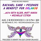 MPress Records Presents Rachael Sage + Friends, A Benefit For Orlando
