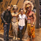 Photo Flash: EMPIRE Stars Visit Broadway's THE LION KING