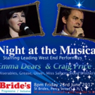 Emma Dears and Craig Price to Headline A NIGHT AT THE MUSICALS for Save Our St. Bride's