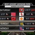 ESPN's College Football Schedule Begins with Best Kickoff Week Ever