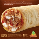 New From TacoTime: Sriracha Pork Crisp Burrito