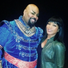 Photo Flash: Stage and Screen Star Angela Bassett Visits ALADDIN on Broadway