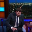 VIDEO: Eww! Stephen & John Krasinski Have Fake Vomit-Off on LATE SHOW