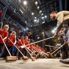 Photo Flash: Camden Schoolchildren Promote Walking Campaign with Cast of STOMP