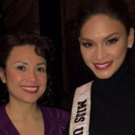 PHOTO: Miss Universe Takes In Broadway's ALLEGIANCE; Visits Lea Salonga Backstage