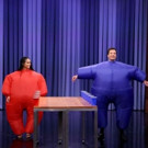 VIDEO: Zoe Kravitz Competes in 'Inflatable Flip Cup' on TONIGHT SHOW