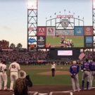 STAGE TUBE: Lena Hall Performs National Anthem for Game 3 of NLDS