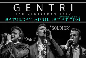 Gentri Tenor Trio Comes to Spencer Theater for the Performing Arts