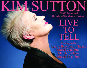 After Brain Surgery, Kim Sutton Will Bring LIVE TO TELL to the Beechman